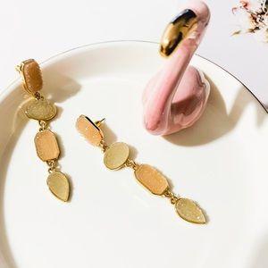 BaubleBar Beige Stone Drop Earrings
